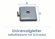 24 x 24mm Universalgleiter selbstklebend / mit Schraube (1 Stk.)