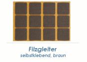 25 x 25mm Filzgleiter braun selbstklebend  (1 Karte zu 32...
