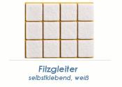 34 x 34mm Filzgleiter weiss selbstklebend  (1 Karte zu 12...