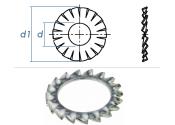 4,3mm Fächerscheiben Form AZ DIN6798 Stahl verzinkt...