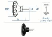 M8 x 20mm Sterngriff PA ähnl. DIN 6336  (1 Stk.)