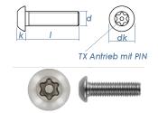 M5 x 10mm Linsenflachkopfschraube TX+PIN ähnl....