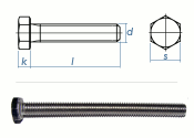 M20 x 55mm Sechskantschrauben DIN933 Vollgewinde...