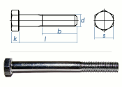 M24 x 80mm Sechskantschrauben DIN931 Teilgewinde Stahl...