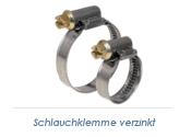 140-160mm / 12mm Band Schlauchklemmen verzinkt (1 Stk.)