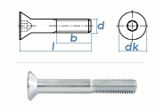 M16 x 60mm Senkschrauben DIN7991 Stahl verzinkt FKL 8.8...