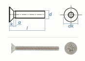 M8 x 20mm Senkschrauben TX ISO14581 Edelstahl A2 (10 Stk.)