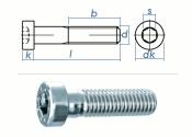 M6 x 40mm Zylinderschraube DIN7984 Stahl verzinkt FKL 8.8...