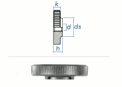 M6 Rändelmutter niedrige Form DIN467 Edelstahl (1 Stk.)