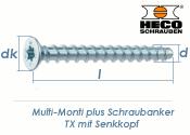 7,5 x 60mm MMS-plus Schraubanker TX mit Senkkopf (1 Stk.)