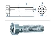 M5 x 20mm Zylinderschraube DIN6912 Stahl verzinkt FKL 8.8...