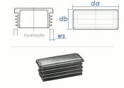 80 x 50mm / WS:1,5-3,5mm Lamellenstopfen rechteckig PE...