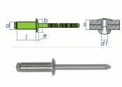 4,8 x 10mm Blindniete Edelstahl A2 DIN7337 (10 Stk.)