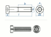 M3 x 8mm Zylinderschraube DIN7984 Edelstahl A2  (10 Stk.)