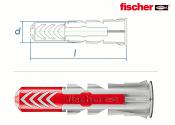 8 x 40mm Fischer DUOPOWER Dübel (10 Stk.)