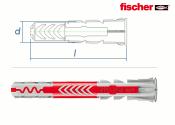 8 x 65mm Fischer DUOPOWER Dübel (10 Stk.)