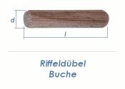 6 x 30mm Riffeldübel Buche (100g = ca.180 Stk)