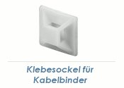 19 x 19mm Klebesockel für Kabelbinder weiss (10 Stk.)